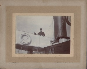 Captain Henry Thomas Thorne on the GWR Dolphin, Dartmouth, Devon.