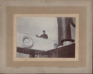 Captain Henry Thomas Thorne on the GWR Dolphin, Dartmouth, Devon.
