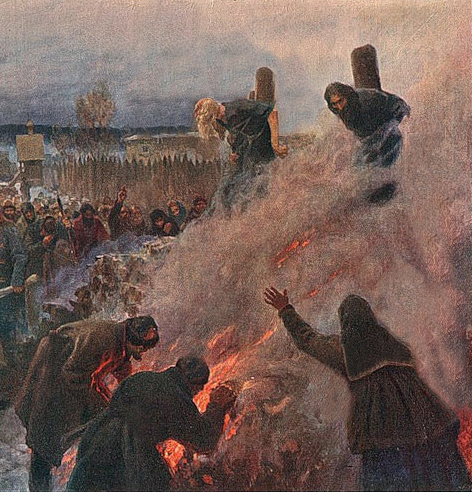Martyrs burnt at the stake