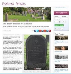 Headstones on TheGenealogist