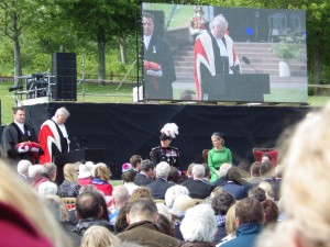 HRH The Countess of Wessex at the 70th commemoration of the Liberation of Jersey