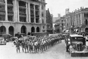 Japanese March in Singapore © IWM (HU 2787)