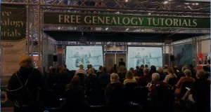 Celia Heritage gives a genealogy tutorial on TheGenealogist stand