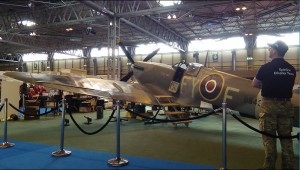 Spitfire on display at the NEC for the WDYTYA? Live