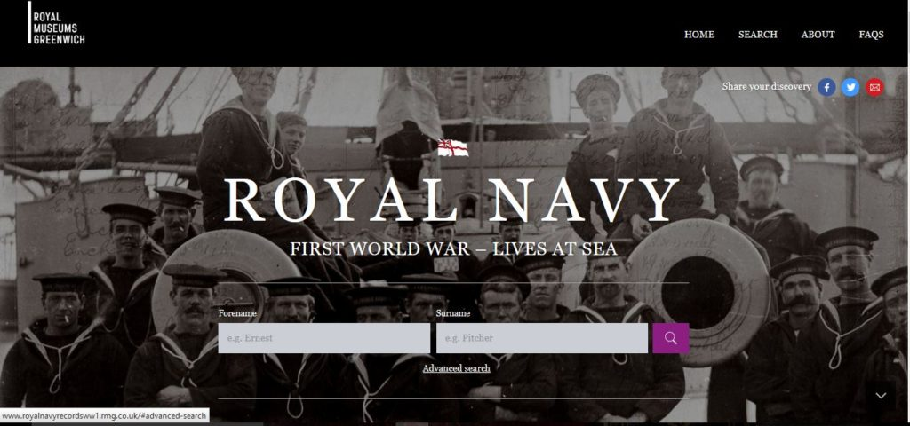 http://www.royalnavyrecordsww1.rmg.co.uk/