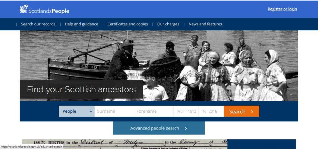 scotlandspeople website