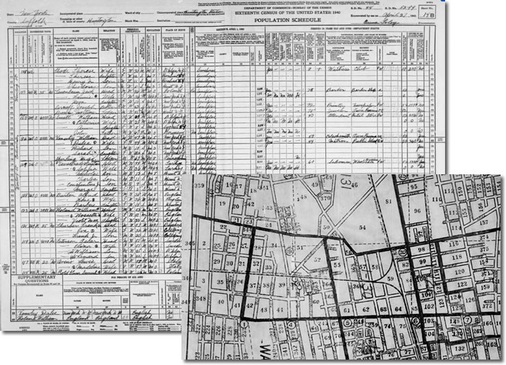 US census maps on TheGenealogist