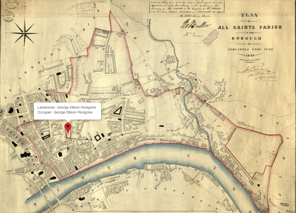 Newcastle Upon Tyne Tithe Map