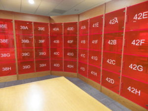 Collect your document from the locker assigned to your seat in the reading room