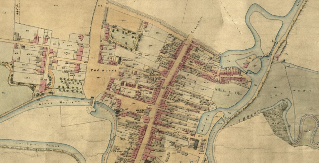 New Brentford Colour Tithe Map on TheGenealogist