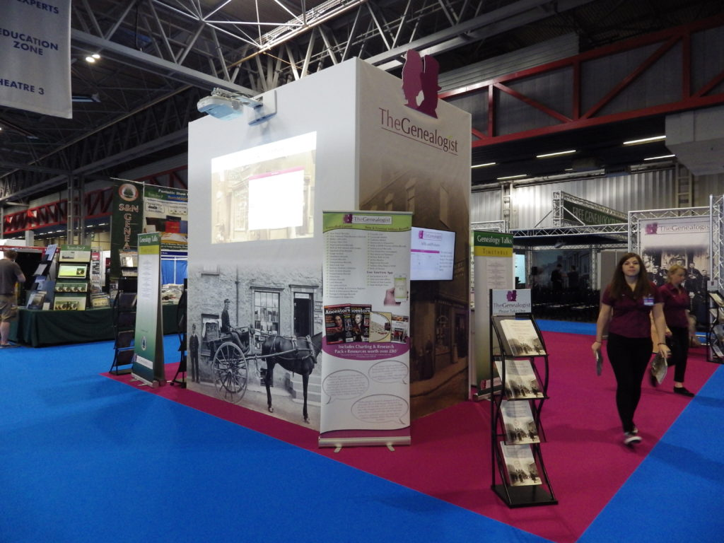 TheGenealogist stand at the Who Do You Think You Are? Live show at the NEC Birmingham