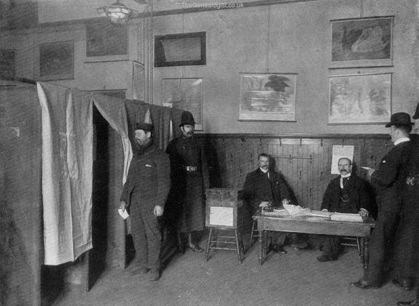 The People's Will, Voting by Ballot at a Parliamentary Election from TheGenealogist Image archive