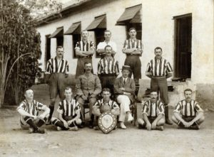 'E' Company Winners of the Inter-Company Football Shield 1910