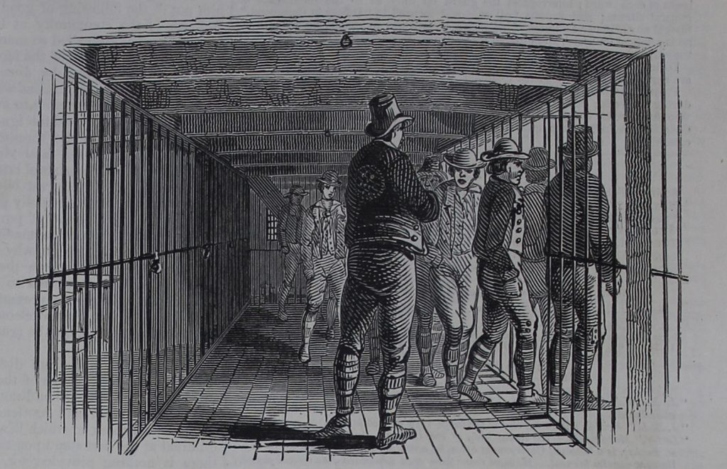 Prisoners on the hulks from The Illustrated London News on TheGenealogist