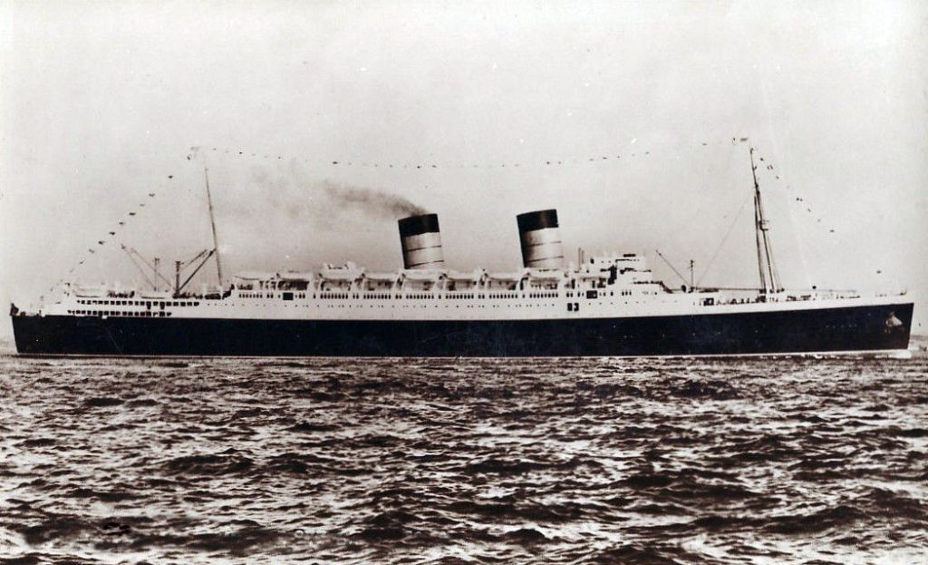 RMS Mauretania; from TheGenealogist's Image Archive