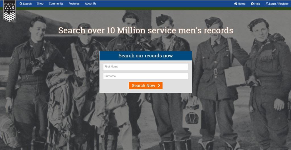 Forces War Records new website