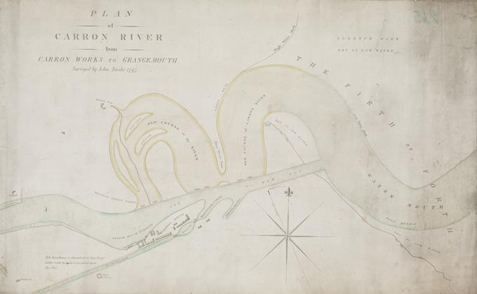 Plan of the Carron River from Carron works to Grangemouth - 1797 National Records of Scotland