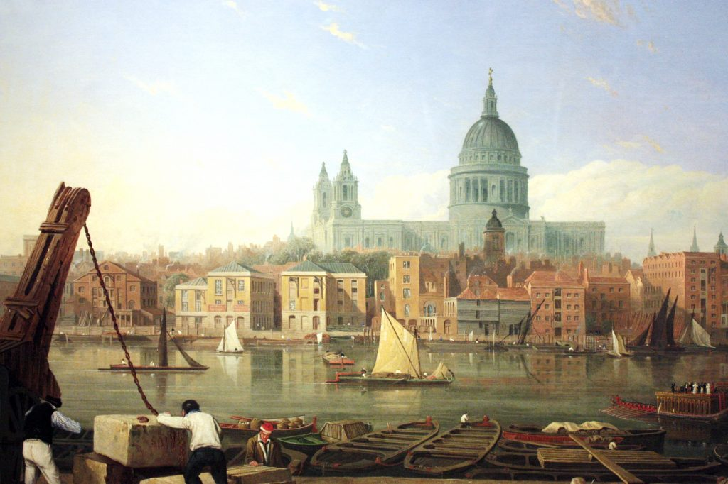 The-City-from-Bankside-by-Thomas-Miles-Richardson-c-1820