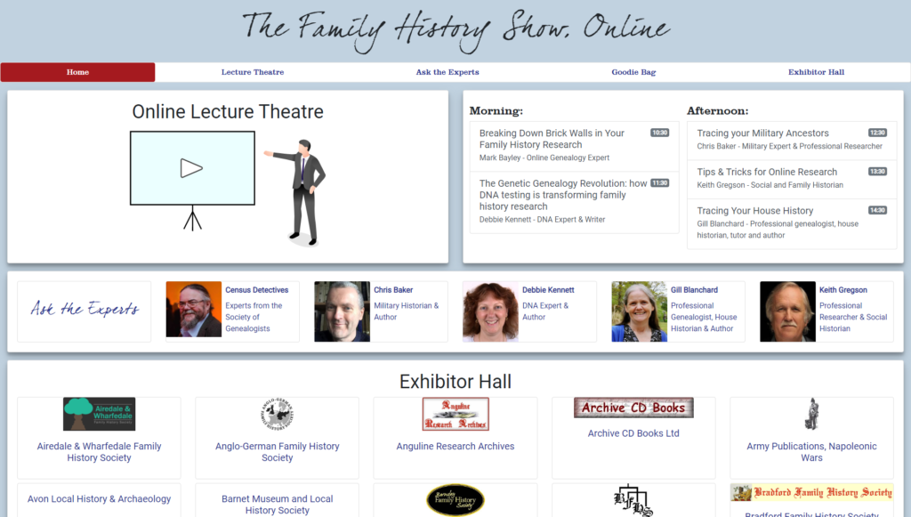 Family History Show Online screenshot
