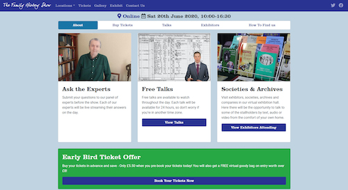 The Family History Show Online home page