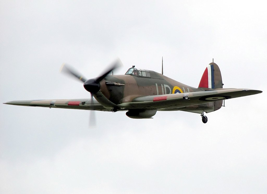 Image of a Hawker Hurricane I R4118 of No 605 Squadron.  Image: Arpingstone / Public domain