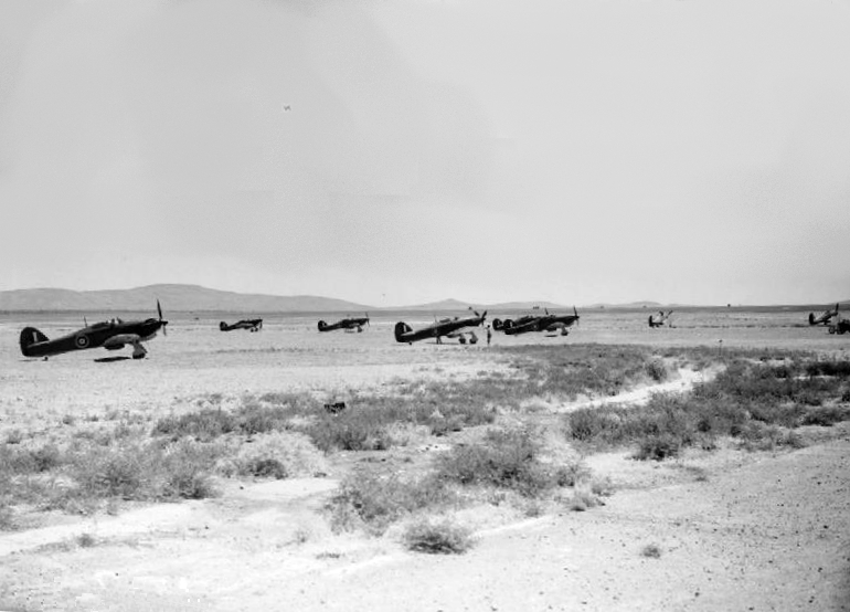 Hurricanes of No. 80 Squadron in Palestine, June 1941 as flown by Roald Dahl