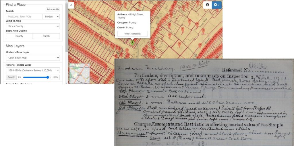 A property recorded in the Lloyd George Domesday Survey Field Book and map on 21 July 1913