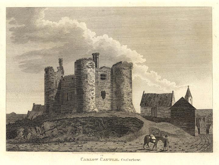 Carlow Castle in County Carlow, Ireland